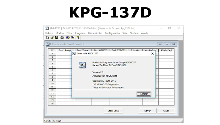 SOFTWARE DE PROGRAMACIÓN KPG-137D