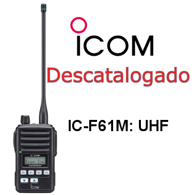 Walkie ICOM DE MARINA IC-F61M DE A BORDO UHF