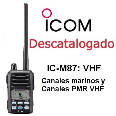 WALKIE ICOM DE MARINA IC-M87