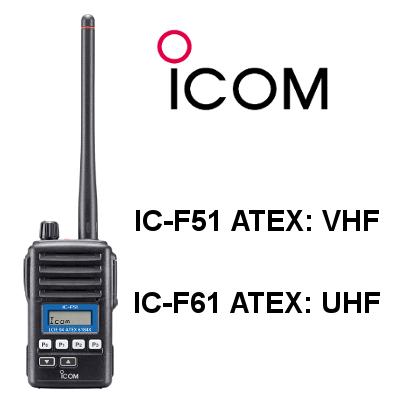 Walkie ICOM IC-F51 ATEX / IC-F61 ATEX