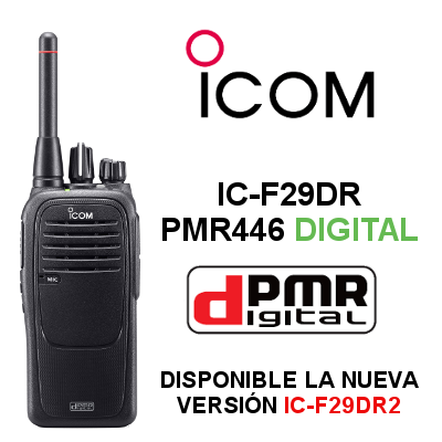 WALKIE ICOM IC-F29DR DIGITAL. CANALES DIGITALES Y ANALOGICOS. IP67