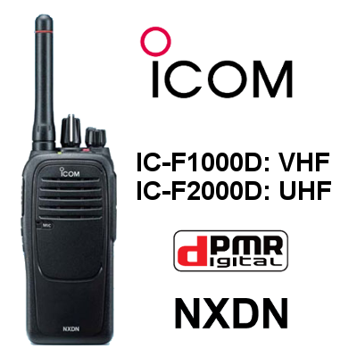 WALKIE ICOM DIGITAL IC-F1000D / IC-F2000D