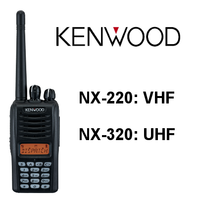 WALKIES DIGITALES KENWOOD NX-220 / NX-320