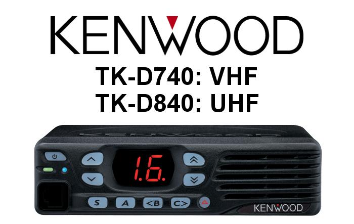 Emisora móvil ANALÓGICA-DIGITAL KENWOOD TK-D740 / TK-D840 DMR