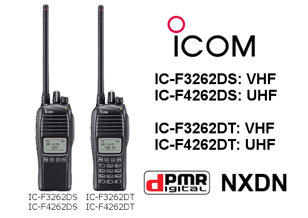 WALKIES ANÁLOGICOS-DIGITALES ICOM IC-F3262DT / IC-F4262DT y IC-F3262DS / IC-F4262DS