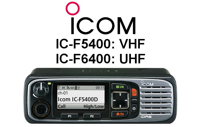 Emisora ICOM ANALÓGICA/DIGITAL IC-F5400D / IC-F6400D