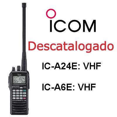 Walkies ICOM VHF DE BANDA AÉREA IC-A24E e IC-A6E