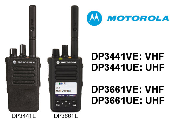 WALKIES MOTOROLA DIGITALES DP3441E Y DP3661E DE 32/1000 CANALES. IP68