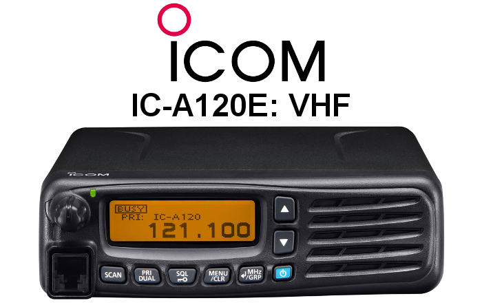 Emisora ICOM DE BANDA AÉREA IC-A120E
