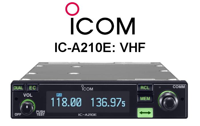 Emisora ICOM DE BANDA AÉREA IC-A210E