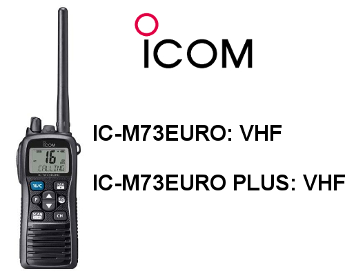 Walkies ICOM IC-M73 EURO e IC-M73 EURO PLUS