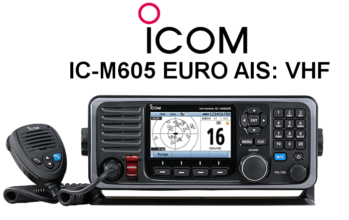 Emisora ICOM DE MARINA IC-M605 EURO AIS
