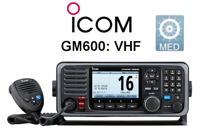 Emisora ICOM DE MARINA GM600