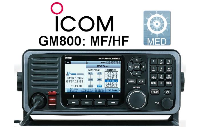 Emisora ICOM DE MARINA GM800 MF/HF