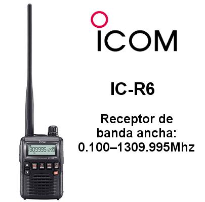 Receptor ICOM IC-R6 de banda ancha