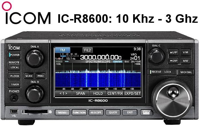 Receptor ICOM IC-R8600 DE BANDA ANCHA