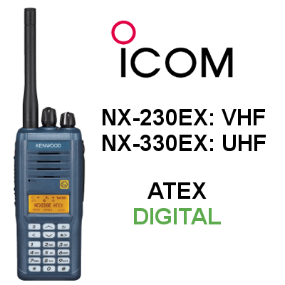 Walkie KENWOOD ATEX DIGITAL NX-230EX / NX-330EX