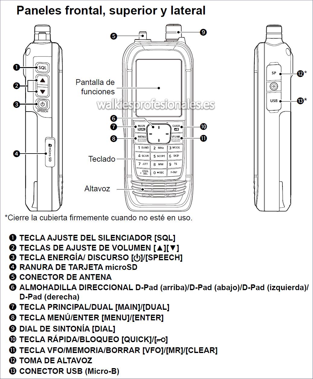 Receptor ICOM IC-R30 de banda ancha con GPS y Bluetooth