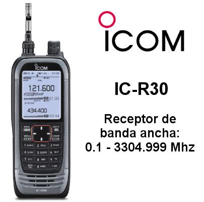 Receptor ICOM IC-R30 de banda ancha