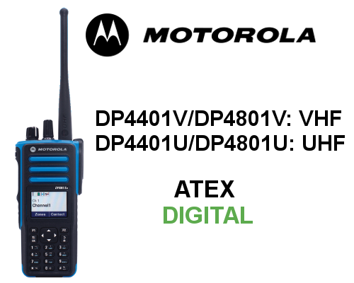 Walkie MOTOROLA ATEX DIGITAL SERIE DP4000EX