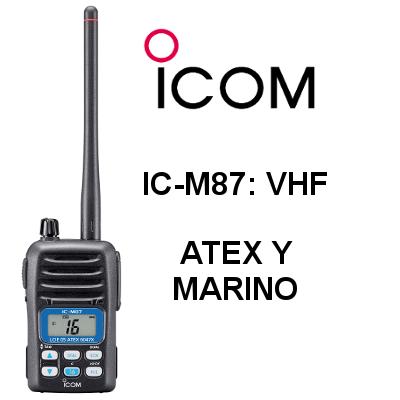 Walkie ICOM ATEX y de Marina IC-M87