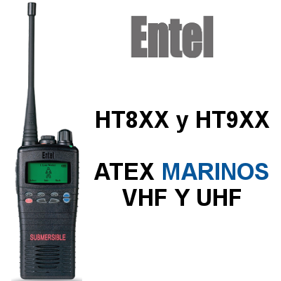 Walkies ENTEL MARINOS ATEX IIA y IIC