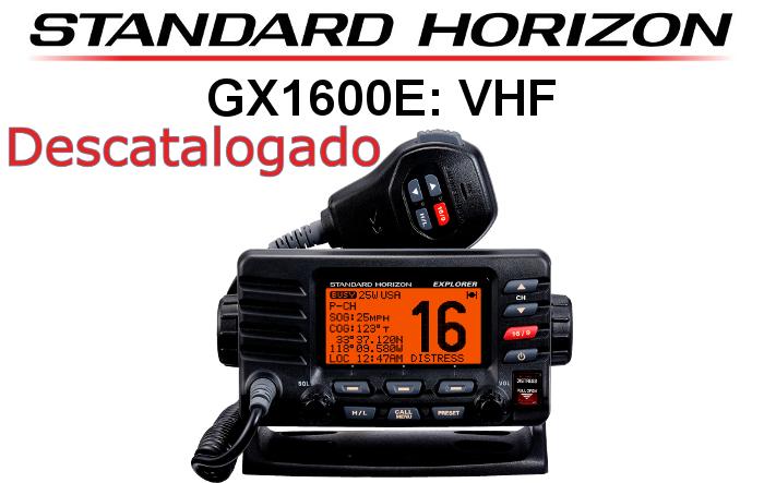 Emisora STANDARD HORIZON DE MARINA GX1600E