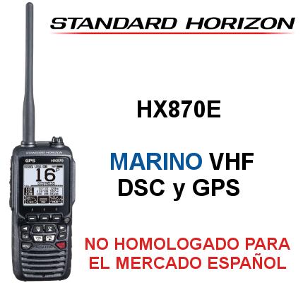 Walkie STANDARD HORIZON DE MARINA HX870E