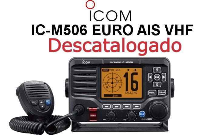 Emisora ICOM DE MARINA IC-M506 EURO CON RECEPTOR AIS Y CONECTIVIDAD NMEA 2000
