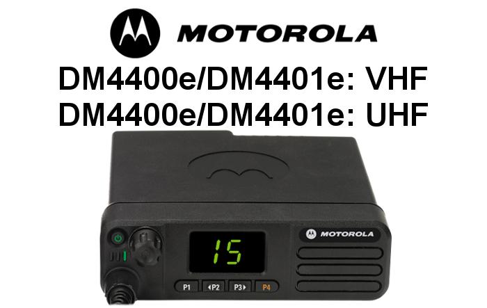 Emisoras MOTOROLA DIGITALES DM4400e y DM4401e
