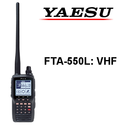 Walkie YAESU VHF de Banda Aérea FTA-550L