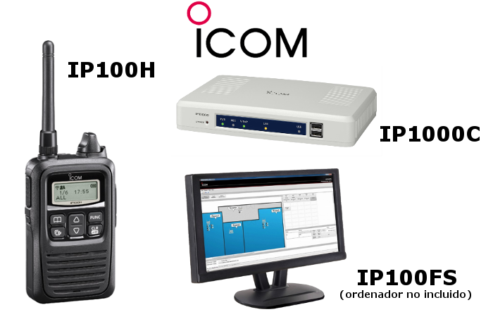 RADIO ICOM IP100H