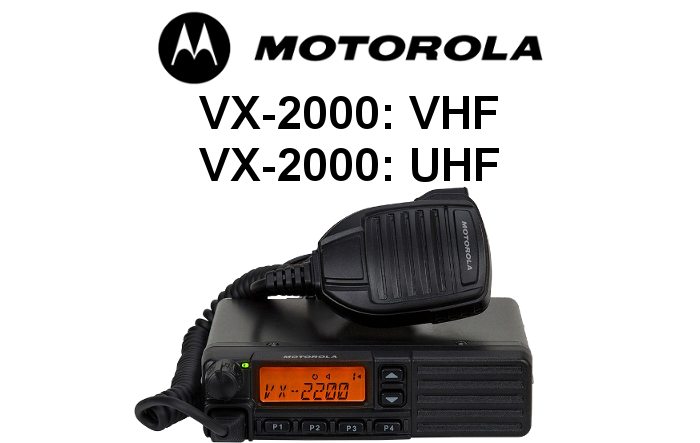 Emisoras MOTOROLA de la serie VX-2000