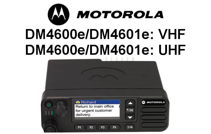 Emisoras MOTOROLA DIGITALES DM4600e y DM4601e