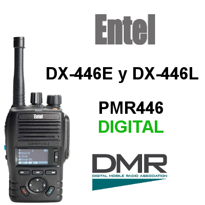 Walkies ENTEL Digitales DX-446E y DX-446L
