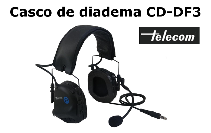 Casco de Diadema profesional CD-DF3 de Telecom