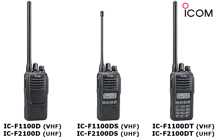 Walkie ICOM DIGITAL IC-F1100D / IC-F2100D