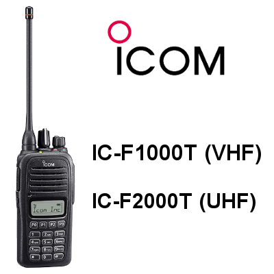 Walkie ICOM IC-F1000T / IC-F2000T