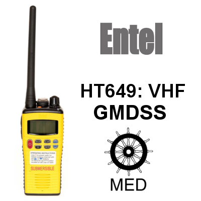 Walkie ENTEL DE MARINA HT649 GMDSS VHF