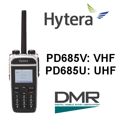 Walkie HYTERA DIGITAL PD685 / PD685G DMR. IP67