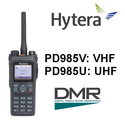 Walkie HYTERA DIGITAL PD985 / PD985G, IP68, OPCIONAL GPS Y BT