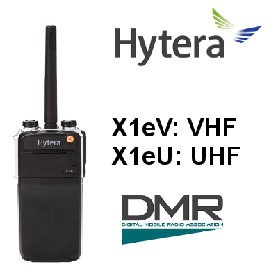 HYTERA X1e: Walkie Digital X1eV / X1eU, IP67 y MIL STD810, GPS y BLUETOOTH