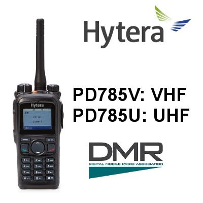 Walkie HYTERA DIGITAL PD785 / PD785G. IP67, CON PANTALLA Y TECLADO COMPLETO
