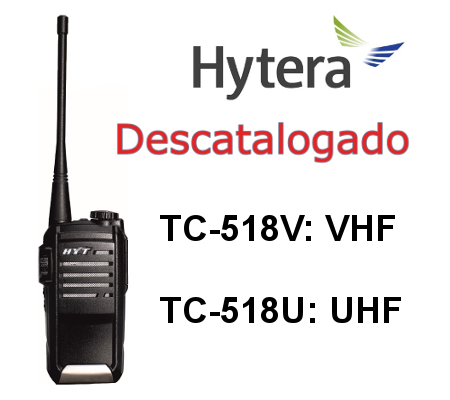 HYTERA TC-518 Walkie TC-518V / TC-518U DE 16 CANALES
