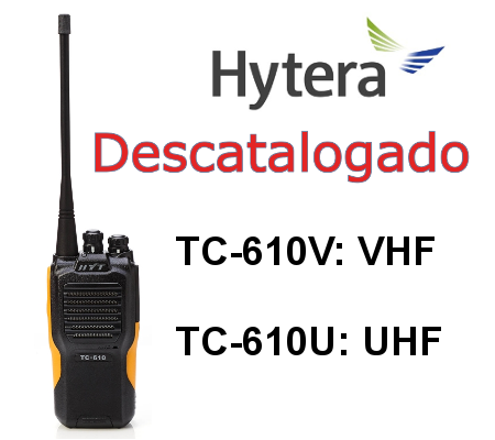 HYTERA TC-610 Walkie TC-610V / TC-610U DE 16 CANALES, IP66 Y MIL STD810