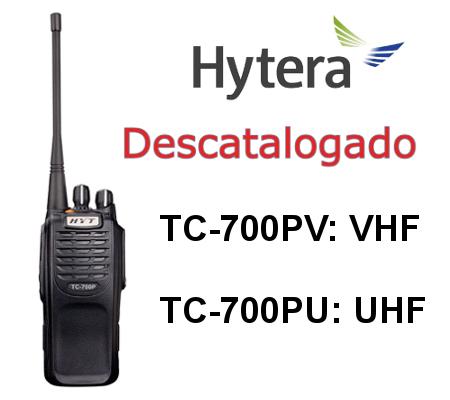 HYTERA TC-700P Walkie TC-700PV / TC-700PU DE 16 CANALES