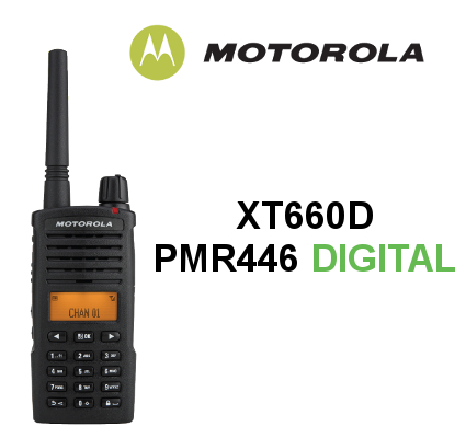 Walkie MOTOROLA PMR446 DIGITAL XT660D