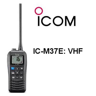 Walkie ICOM DE MARINA IC-M37E VHF FLOTANTE IP57