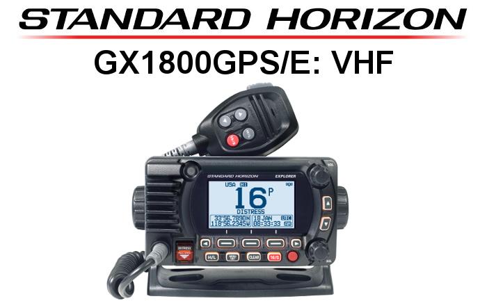 Emisora STANDARD HORIZON DE MARINA GX1800GPS/E CON GPS DE 66 CANALES