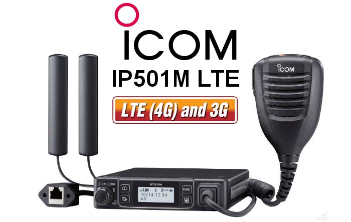 Emisora ICOM IP501M LTE CON GPS Y BLUETOOTH
